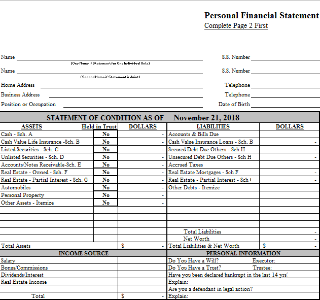 Financial Statement Template 02