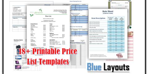 Price List Templates
