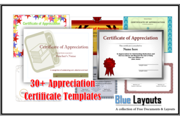 Appreciation Certificate Templates