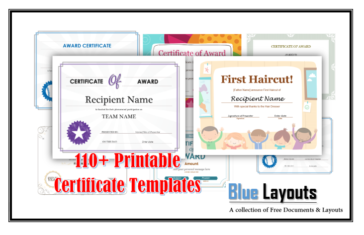120 Free Printable Certificate Templates Download Immediately