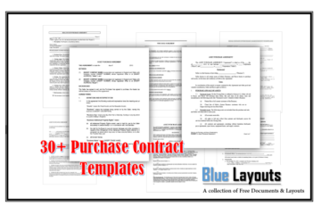 Purchase Contract Templates