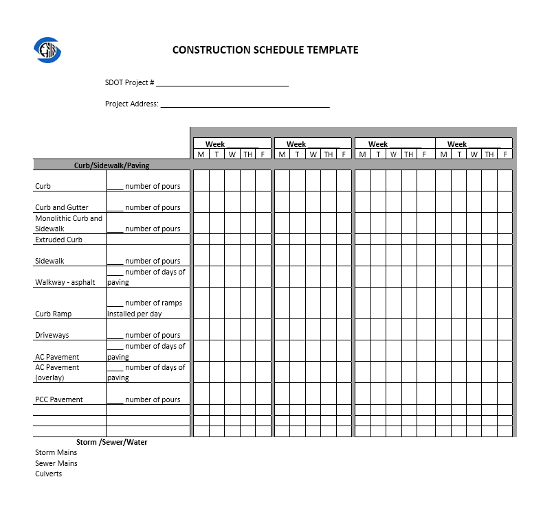 production schedule template 01