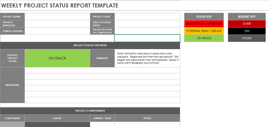 Project status report template 07