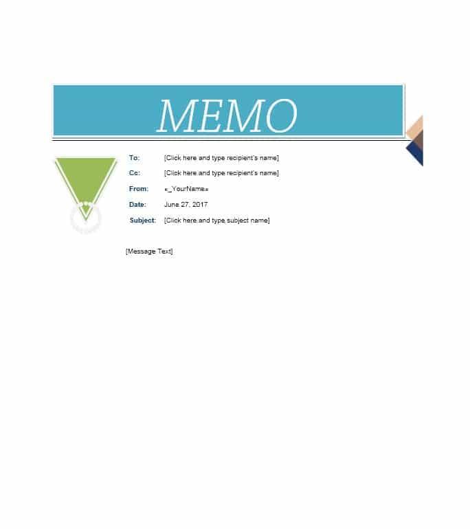 memo template 02