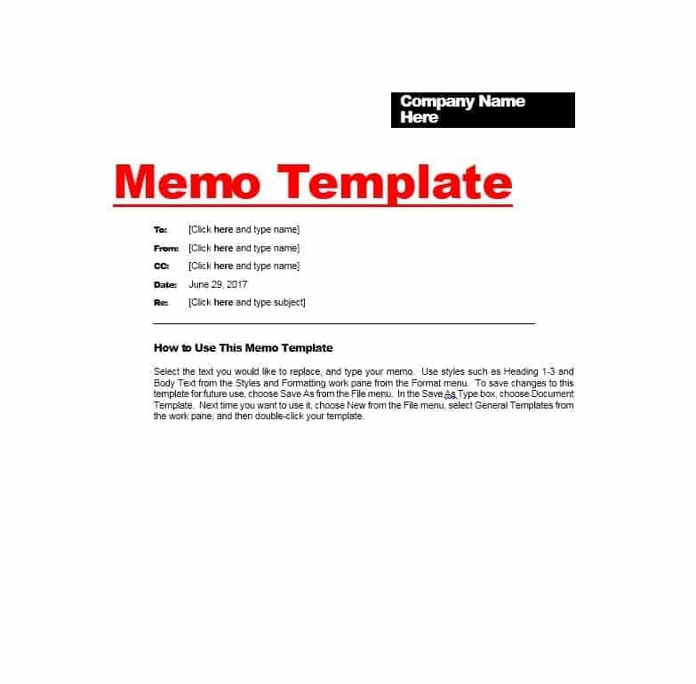 memo template 03