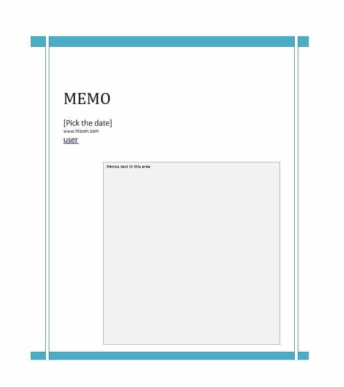 memo template 08