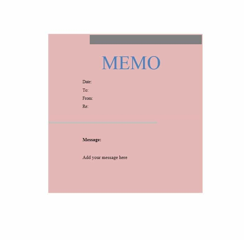 memo template 13