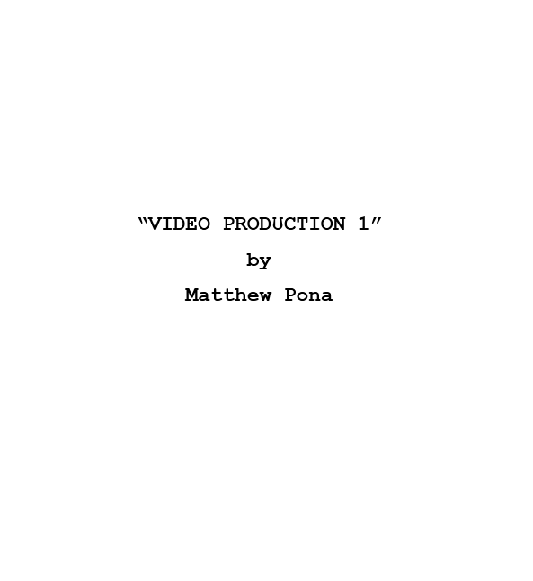 Screenplay Template 09