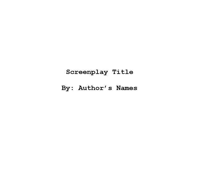 Screenplay Template 10