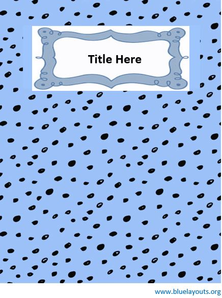 Binder cover template 08