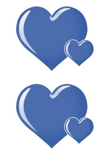 Heart shape Template 03