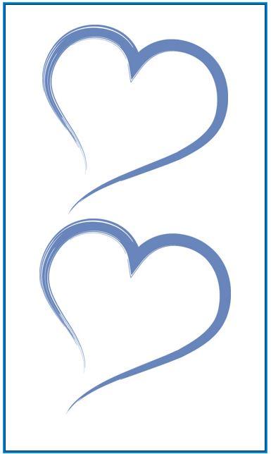 Heart shape Template 04