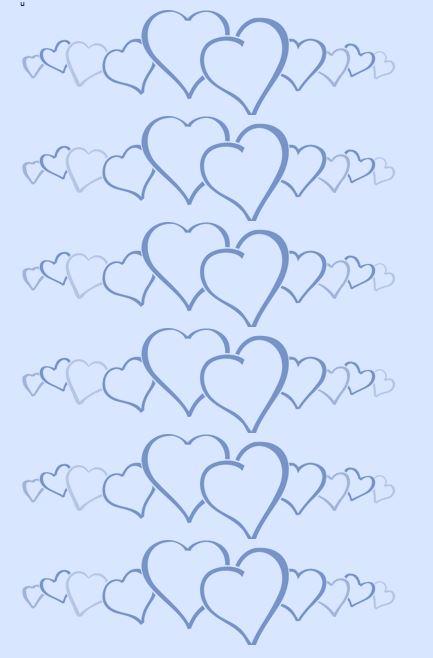 Heart shape Template 07