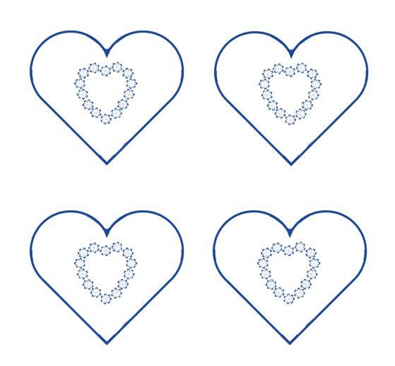 Heart shape Template 09