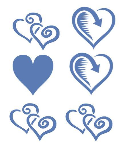 Heart shape Template 10