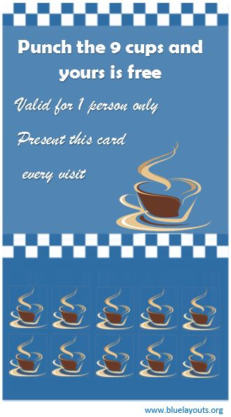 Punch Card Template 04