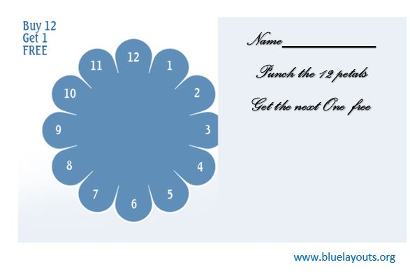 Punch Card Template 06