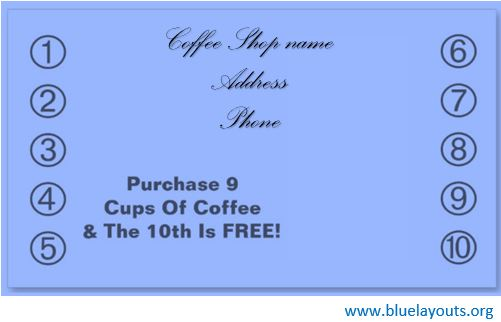Punch Card Template 08