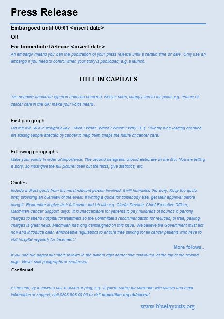 press release template 03