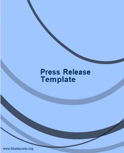 press release template 05