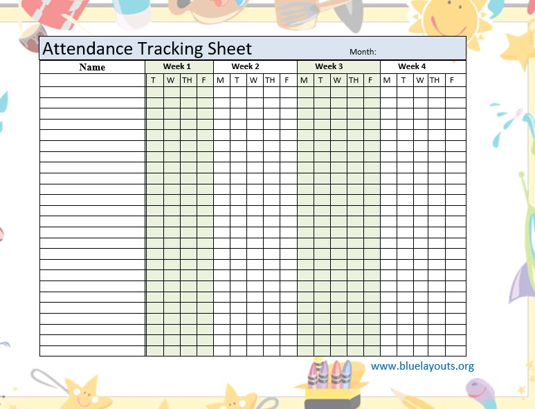 Attendance Sheet Template 06