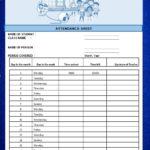 10 Free Attendance Sheet Templates