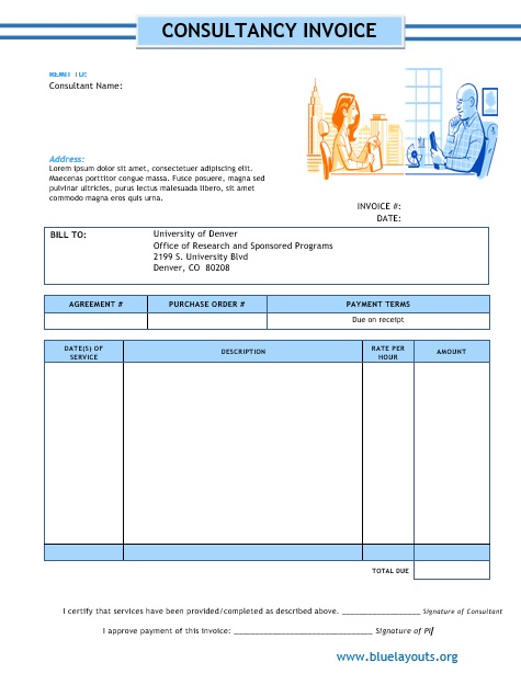 Professional Consultancy Invoice Templates 01