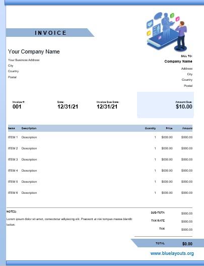 Professional Consultancy Invoice Templates 05