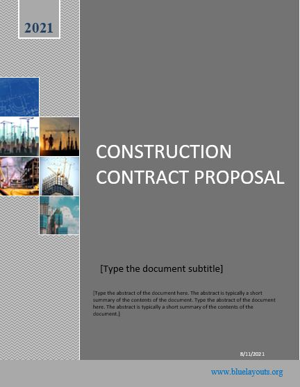construction proposal template 07