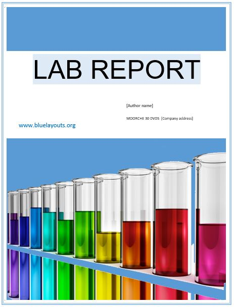 lab report template 05