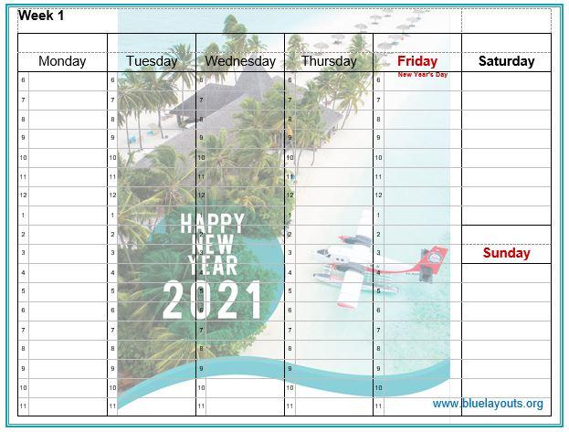 weekly calendar template 09